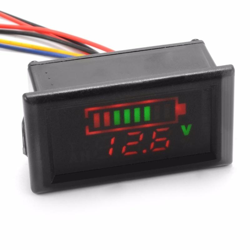 12V 24V 48V Acid Lead Battery Indicator Temp Voltage Display LED Meter - intl