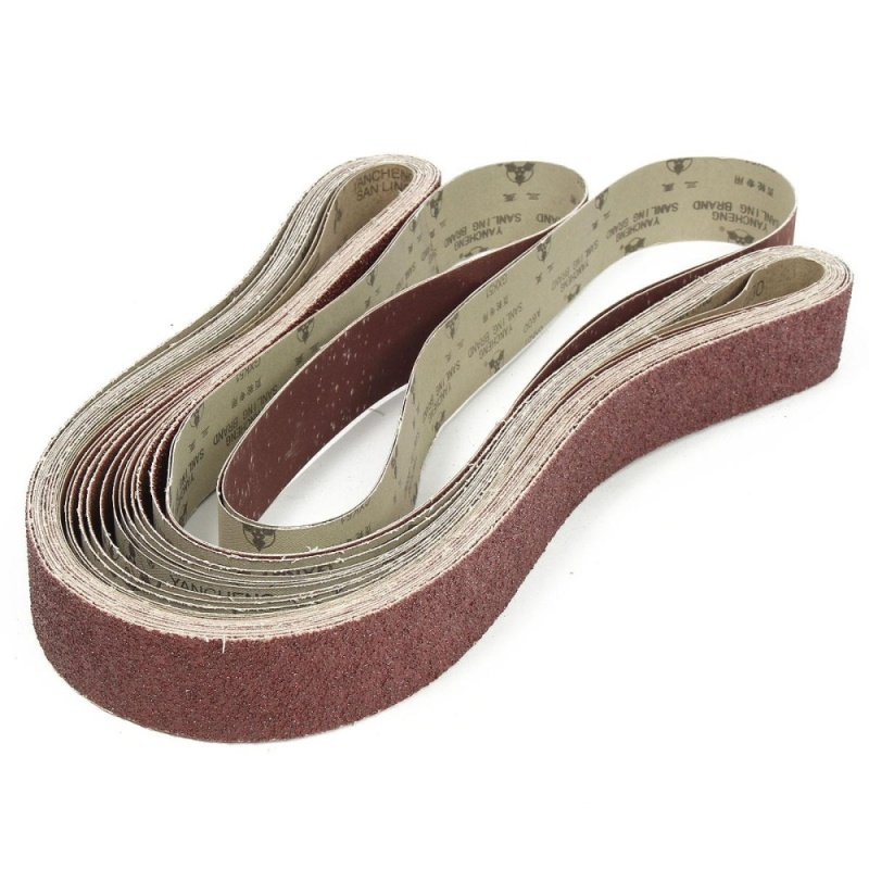 14 Pack 2'' x 72'' Sanding Belts 36 60 80 120 240 400 600 Grit Al Oxide 5x180cm - intl