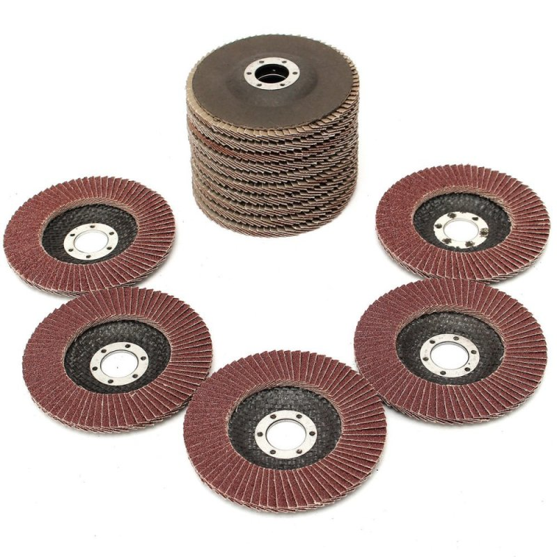 15pcs Flap Discs 115mm Sanding 40 60 80 Grit Grinding Wheels Discs Each 5Pcs - intl