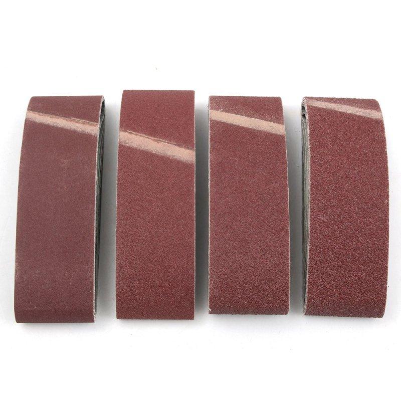 "20 Norton 3"" x 21"" Sanding Belts Assort 36 50 80 120 Grit Fine Medium Coarse - intl"
