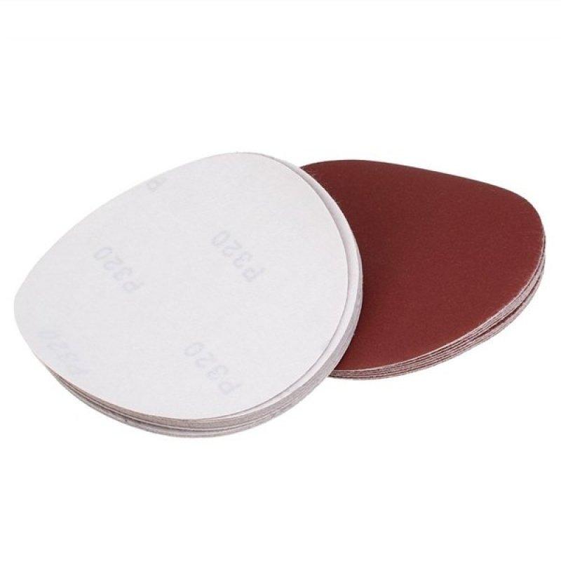 20pcs 6 Inch Hook and Loop Sanding Discs 320 Grit Sandpaper Circular Pads (Brick Red)