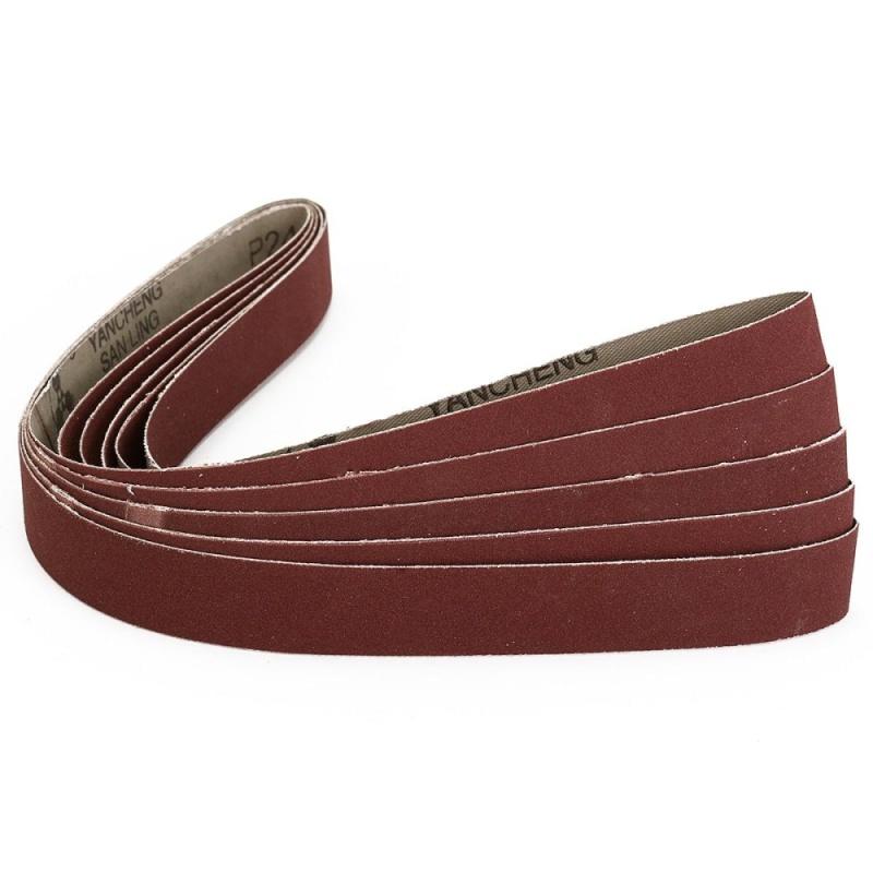 5 Pack 1''x30'' Inch 2.5x76cm 240 Grit Sanding Belts AL Oxide For Metal Working - intl