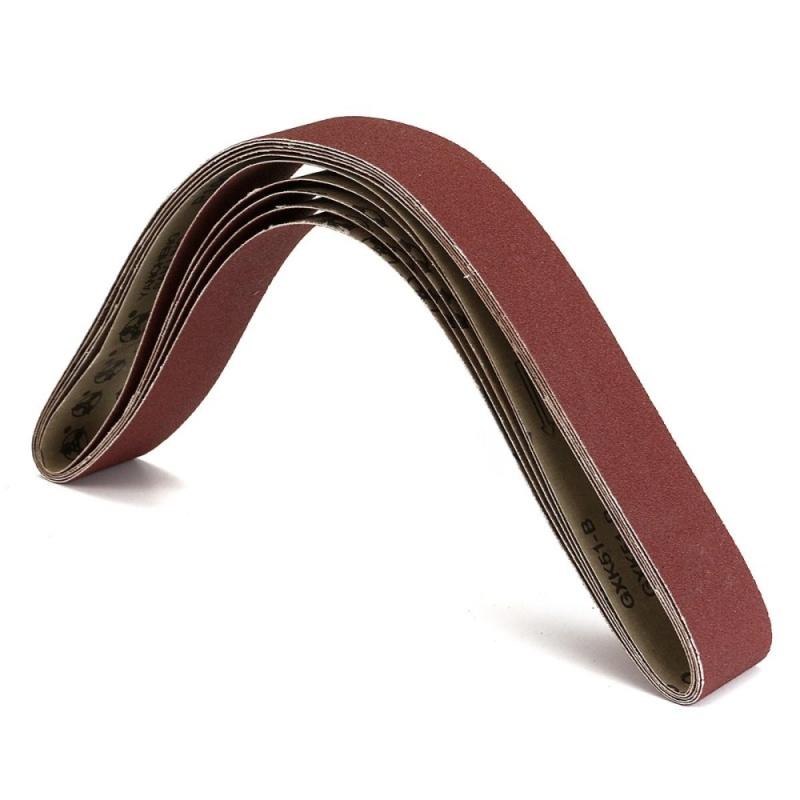 5 Pack 2''x42'' Inch 5x106cm 100 Grit Sanding Belts AL Oxide For Metal Working - intl