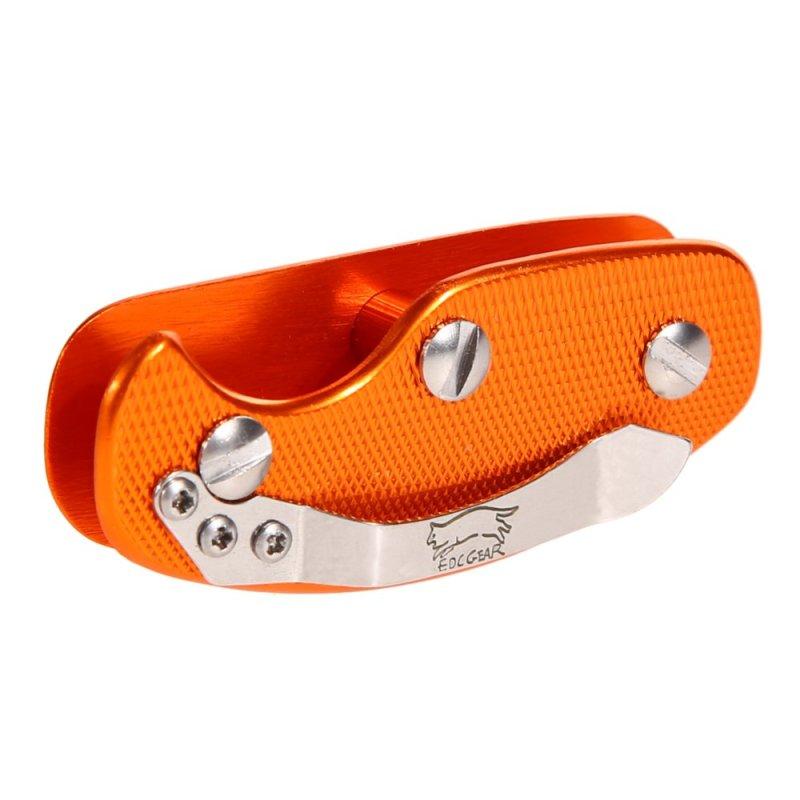 Aluminum Key Organizer Clip Folder Keyring Case EDC Pocket Tool Orange (Intl)