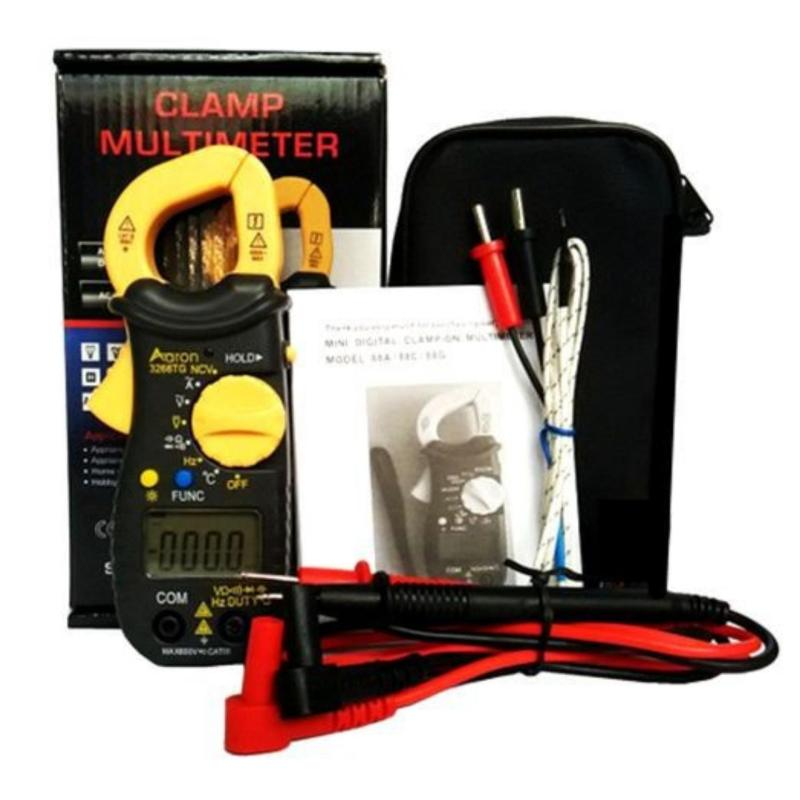 Ampe kìm kẹp mét Aaron 3266TD bỏ túi, công cụ sửa chữa điện , điện lạnh đo được nhiệt độ.