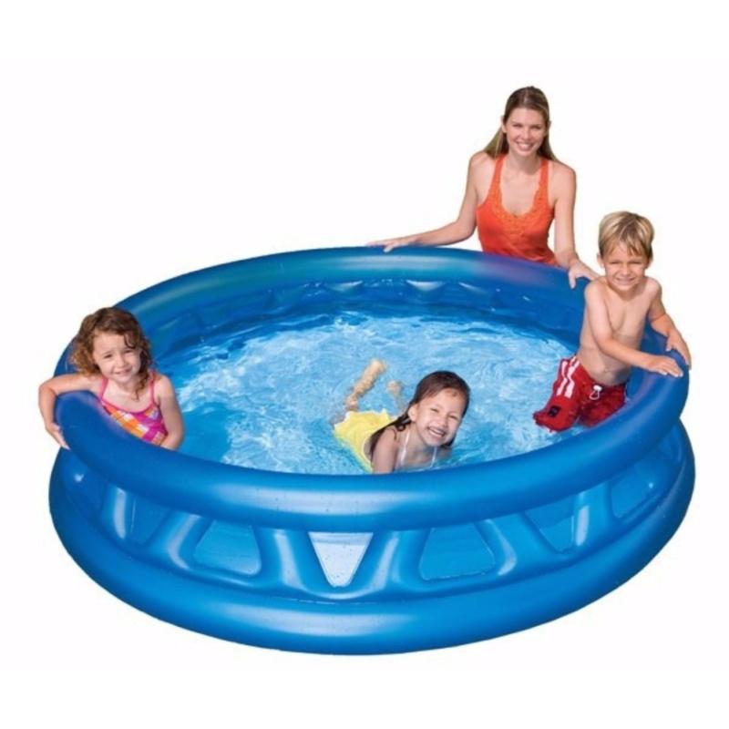 Bể bơi gia đình tròn xanh 188x46 model 58431