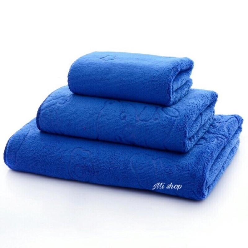 Mua Set 3 khăn rửa mặt,gội,tắm Thái(tím trơn)-To 70x140
