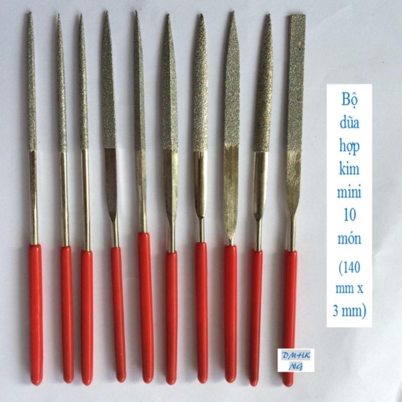 Bộ dũa hợp kim mini 10 món 3 x 140 mm