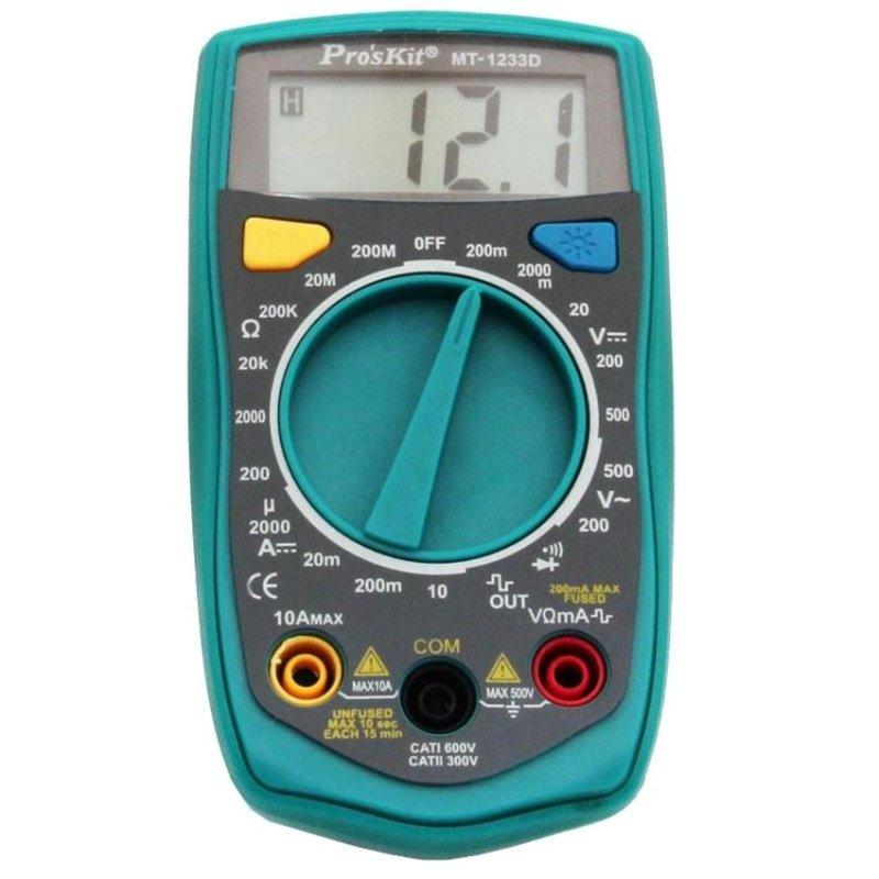 Đồng hồ đo Pro'skit MT-1233D (Xanh phối đen)
