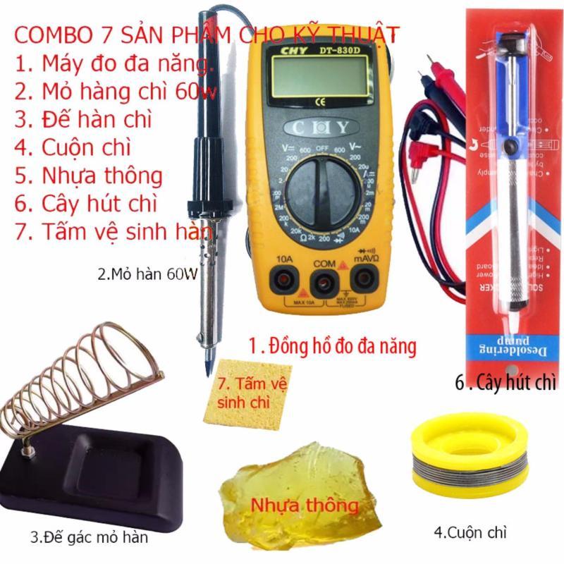 Đồng hồ đo vạn năng cao cấp CHY DT-830D + 6 món dụng cụ kỹ thuật