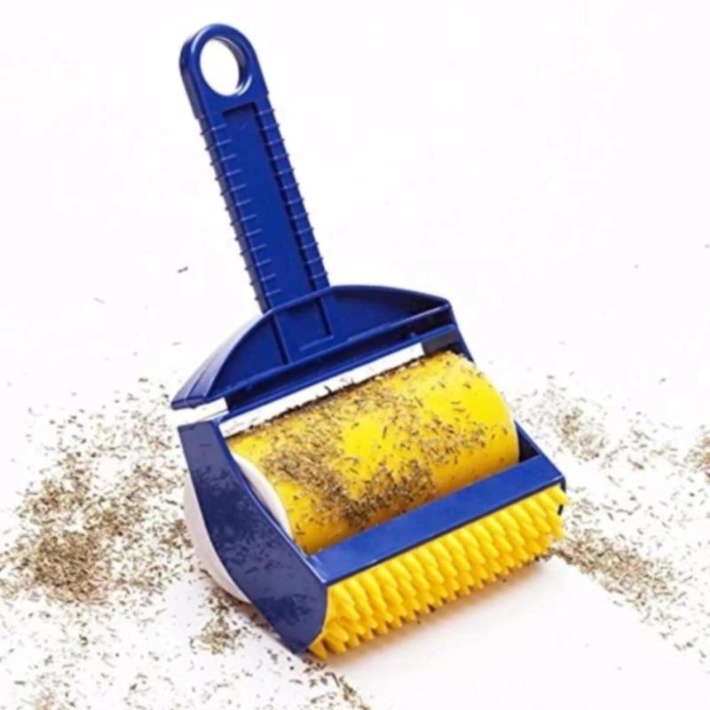 Dụng cụ cây lăn bụi quần áo sticky buddy siêu tiện dụng ( xanh phối vàng )