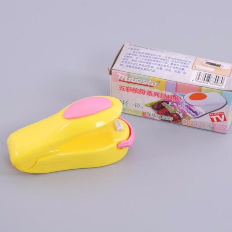 Dụng cụ đóng gói hàn miệng túi bằng nhiệt mini (Vàng)