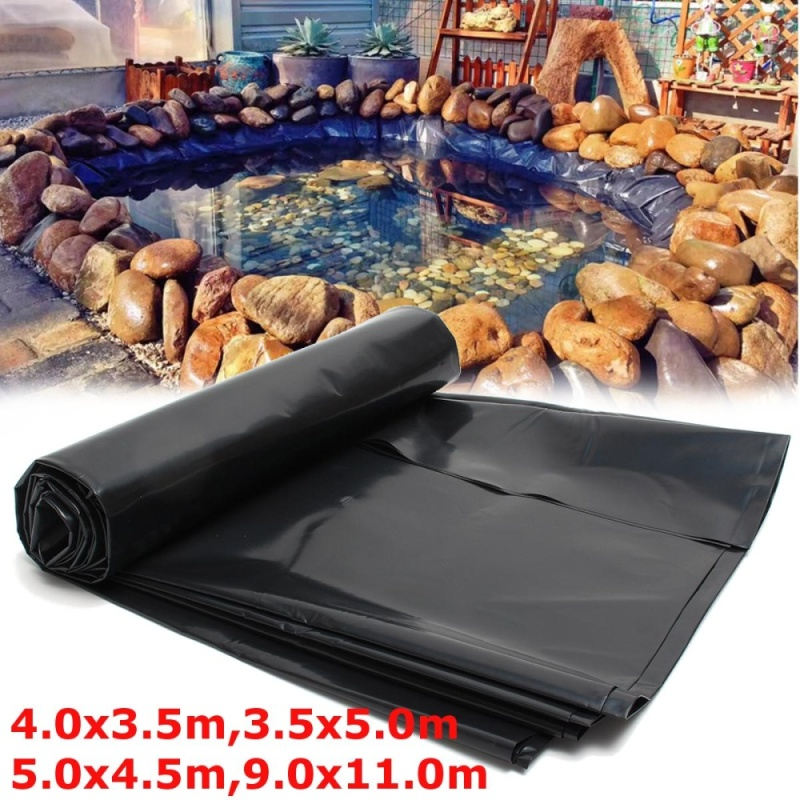 Durable Fish Pond Liners Reinforced HDPE Membrane Garden Pools Landscaping Size 3.5*5m - intl