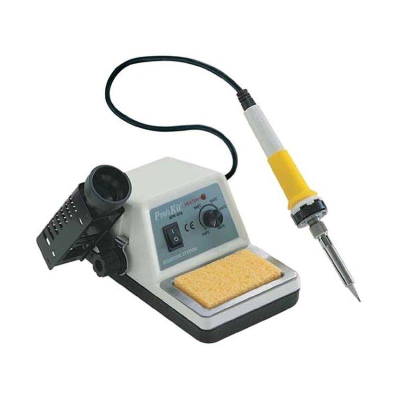 Mỏ hàn điều chỉnh nhiệt độ Proskit 6PK-976NB Bạc phối (Đen)