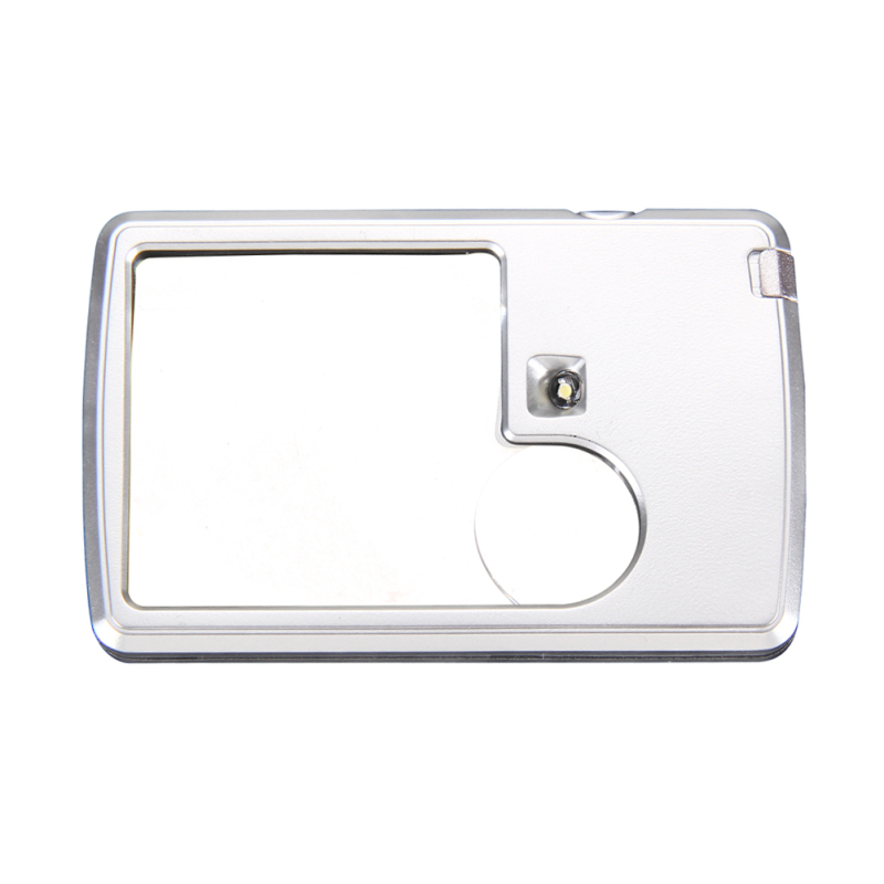 Power 3x 6x LED Illuminated Card-shaped Magnifier Reading Observing Tool (Intl)