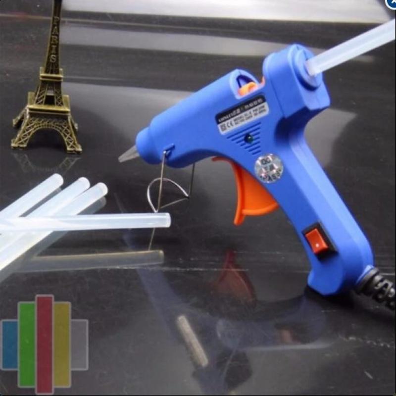 Súng bắn keo tặng 25 keo nến silicon dài 25cm