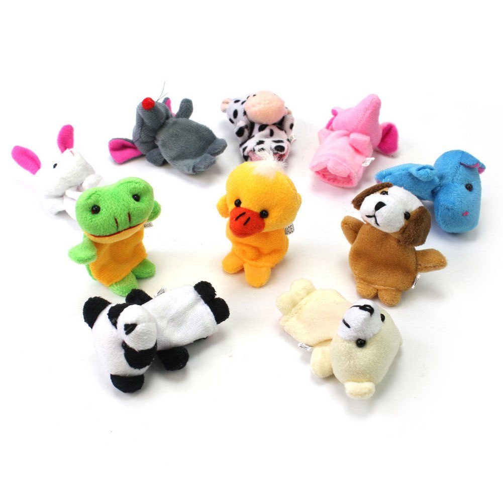 12 Animals Finger Puppets Kids Baby Play Toys - intl
