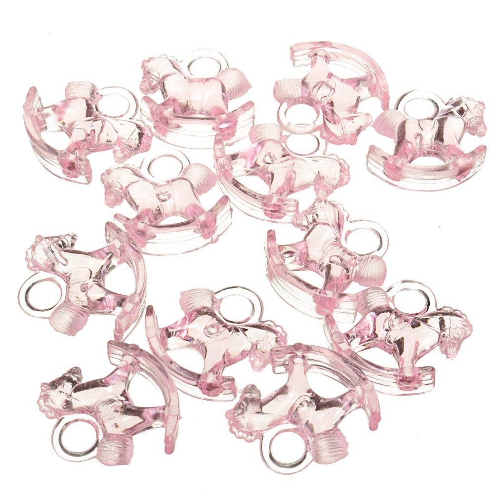 12Pcs Plastic Mini Horse Baby Shower Favors Christening Pink - Intl