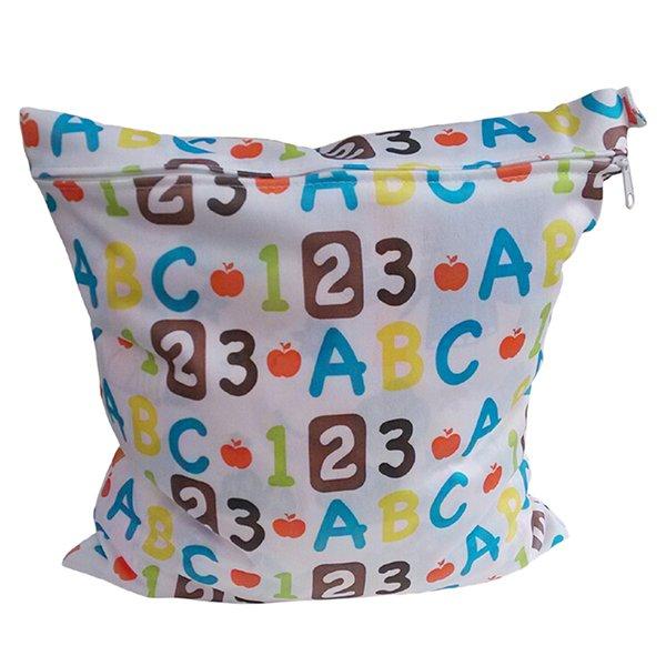 Bluelans Baby Nappy Reusable Washable Wet Dry Cloth Waterproof Diaper Bag Multicolor (Intl)
