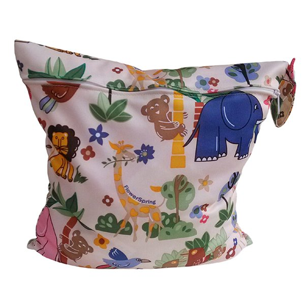 Bluelans Lovely Baby Nappy Reusable Washable Wet Dry Cloth Waterproof Diaper Bag (Intl)