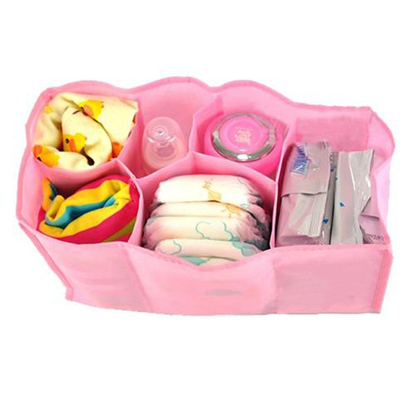 Bluelans Mother Bag Large Travel Nappy Bag For Storage Baby Diaper Nappies Pink Size L (Intl)