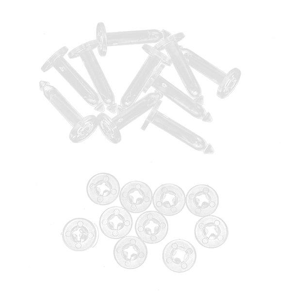 Bluelans Upgrade Anti-drop Pins Kit for DJI Phantom 3 Pro Gimbal Anti Vibration 10 Pcs Clear (Intl)