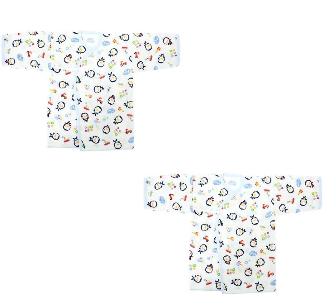 Bộ 2 áo sơ sinh Puku 20400 50cm (Xanh)