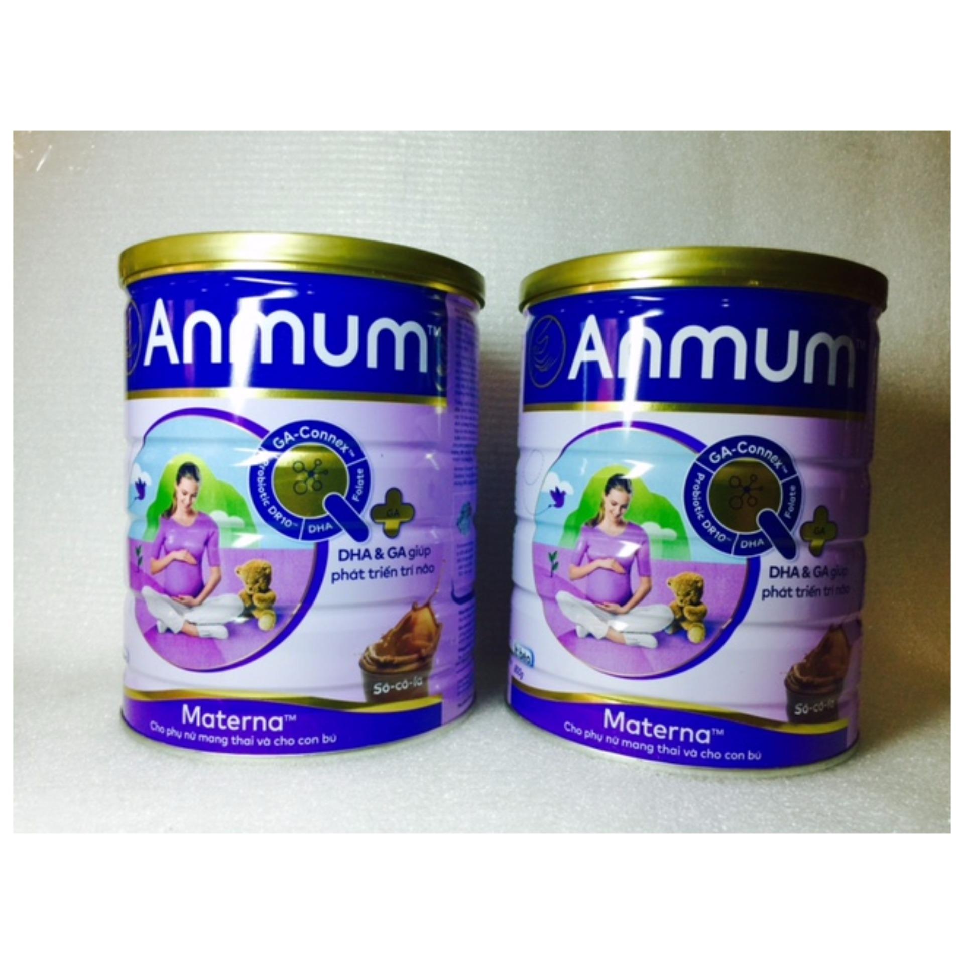 Bộ 2 hộp sữa Anmum Socola 800g