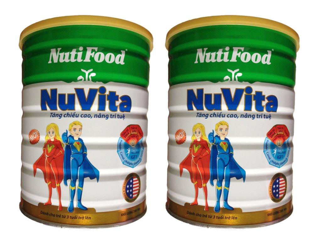 Bộ 2 hộp sữa nutifood Nuvita 900g