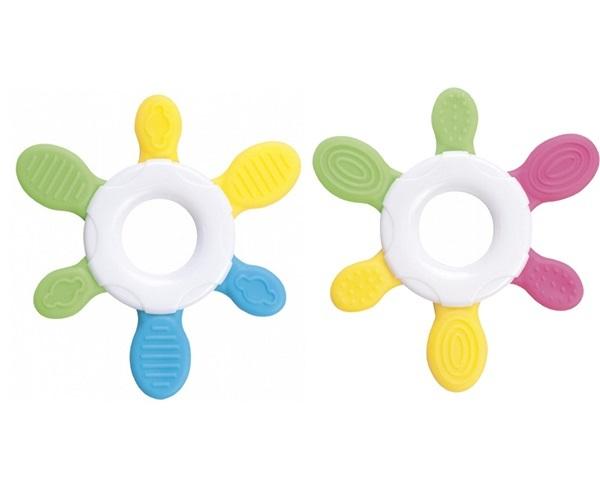 Bộ 2 miếng cắn răng nhựa mềm hình mặt trời Canpol Babies 74/008