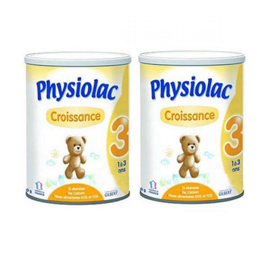 Bộ 2 sữa bột Physiolac Croissance 3ER 900g