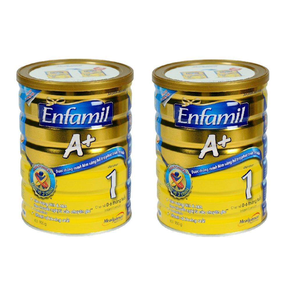 Bộ 2 Sữa Enfamil A+ 1 - 900g