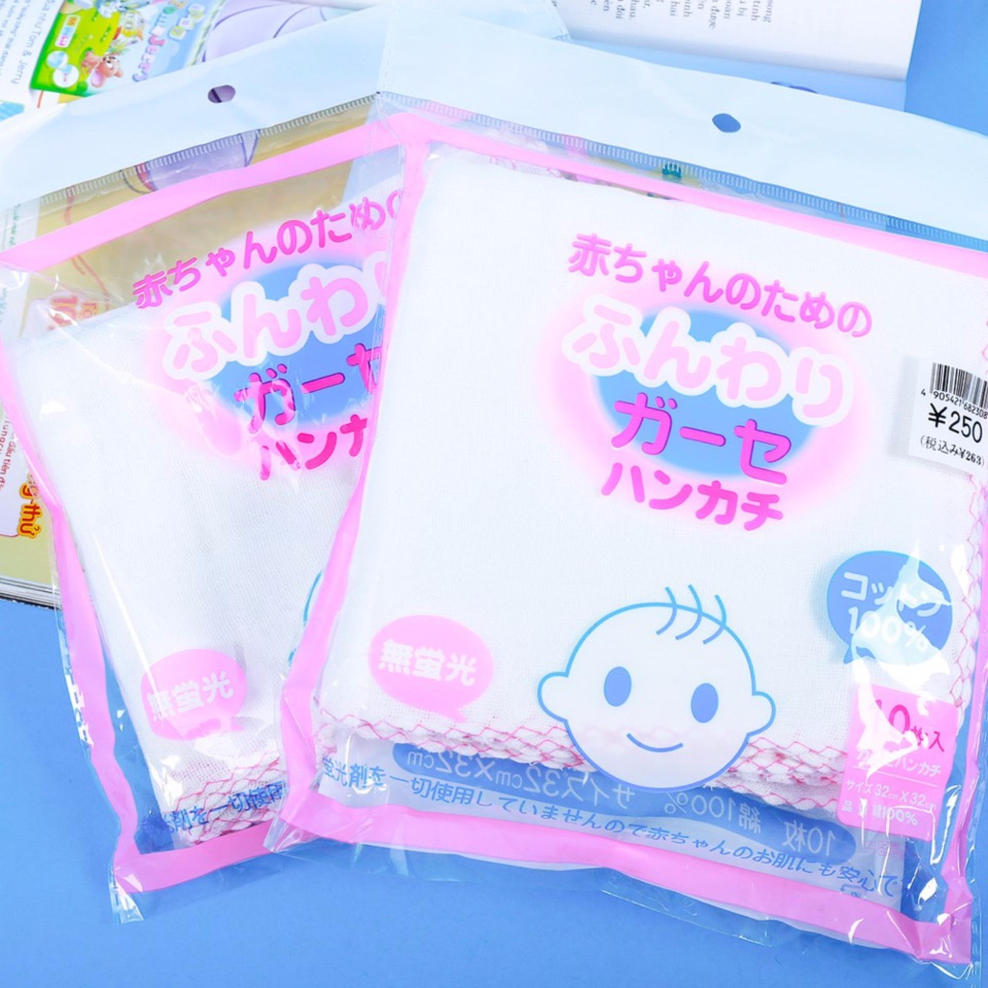 Bộ 2 túi khăn sữa xuất Nhật cho bé yêu