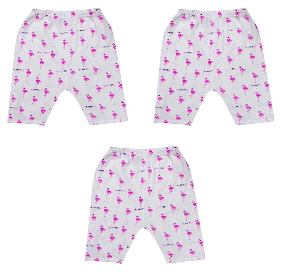 Bộ 3 quần lửng đóng bỉm hình thiên nga ILUMINO Size 70