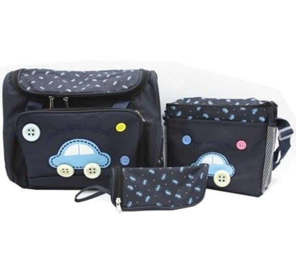 Bộ 3 túi xách cho mẹ và bé hình ôtô kute kim phát