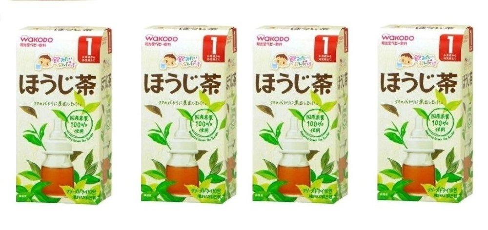 Bộ 4 Trà Wakodo hương trà xanh