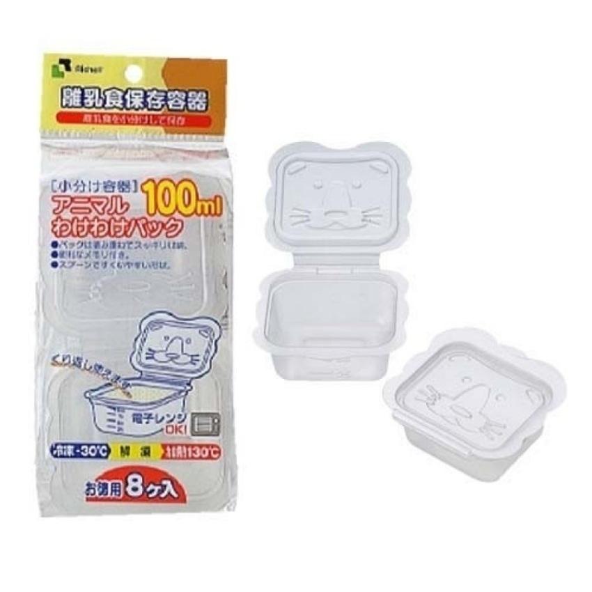 Bộ 8 hộp chia thức ăn 100ml Richell RC98107