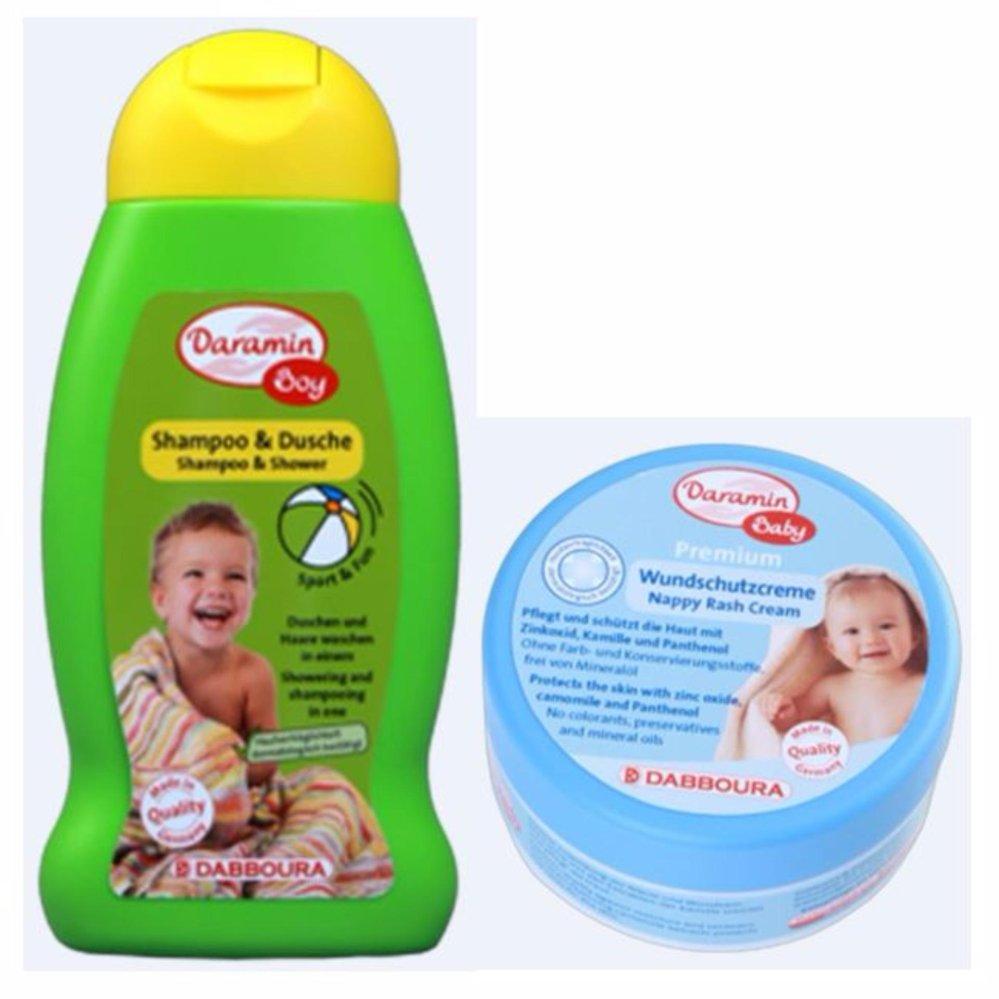 Bộ dầu gội & sữa tắm cho bé trai và Kem chống hăm