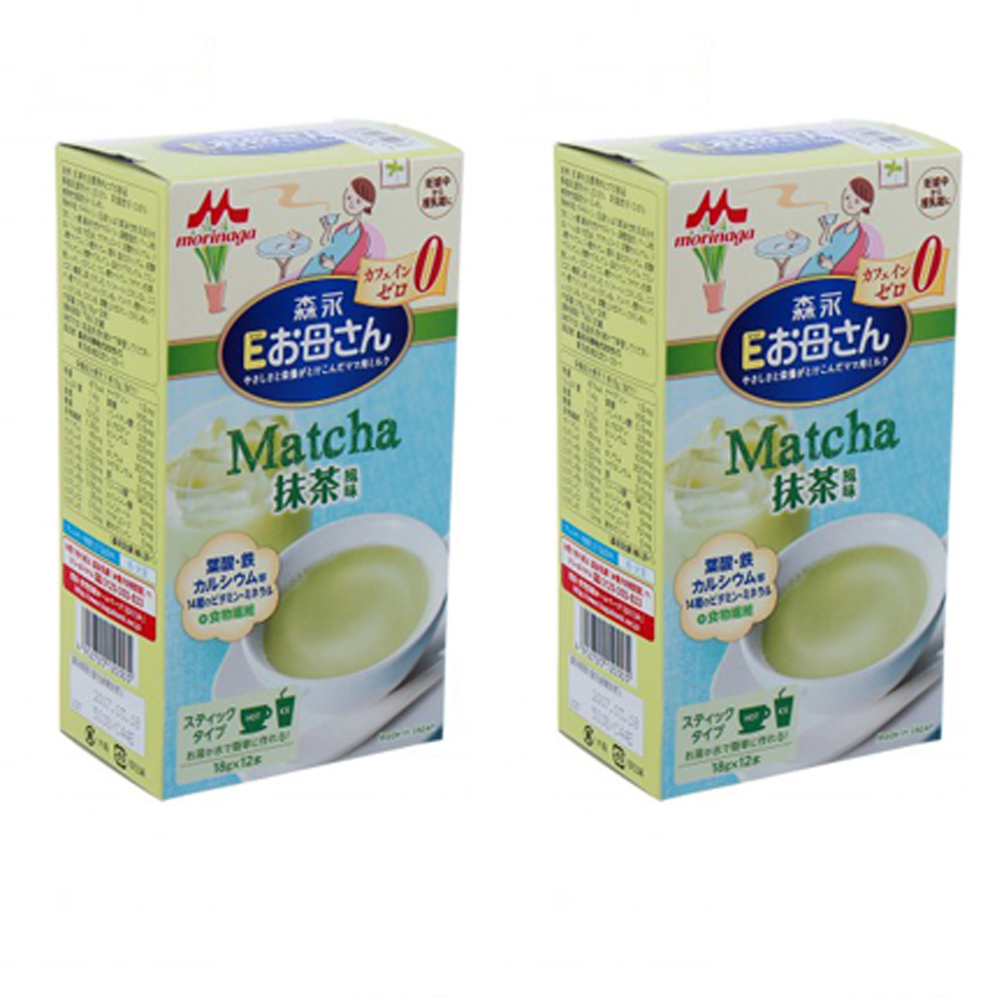 Bộ đôi sữa bầu Morinaga vị Matcha 2 x 18g x 12 gói
