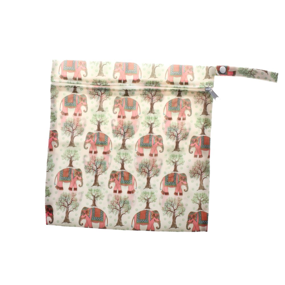 BolehDeals Phenovo Baby Waterproof Zipper Reusable Diaper Bag Multi Animal Pattern 3 - intl
