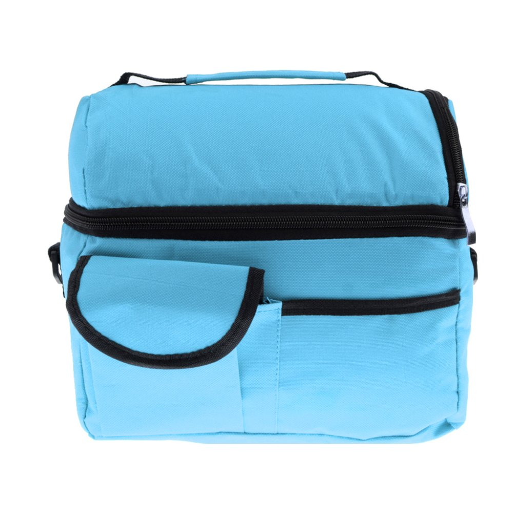 BolehDeals Thermal Insulated Bag Cooler Bag Picnic Lunch Bags Mummy Baby Bags Sky Blue - Intl