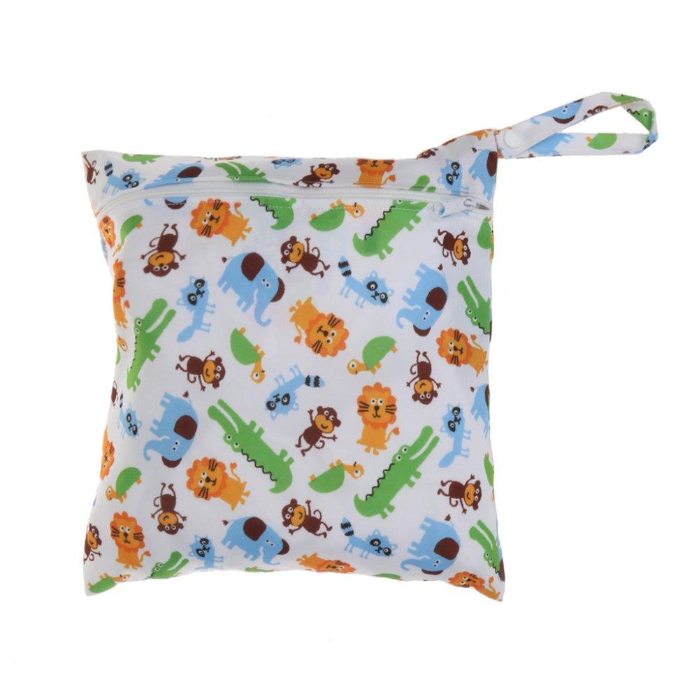 BolehDeals Waterproof Baby Zipper Diaper Bag Wet Dry Swim Travel Tote #2 - intl