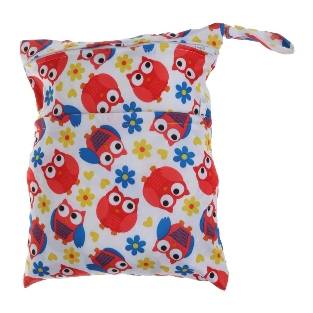BolehDeals Waterproof Resuable Wet Dry Baby Diaper Bag Organizer Pouch Dual Zipper#3 - intl
