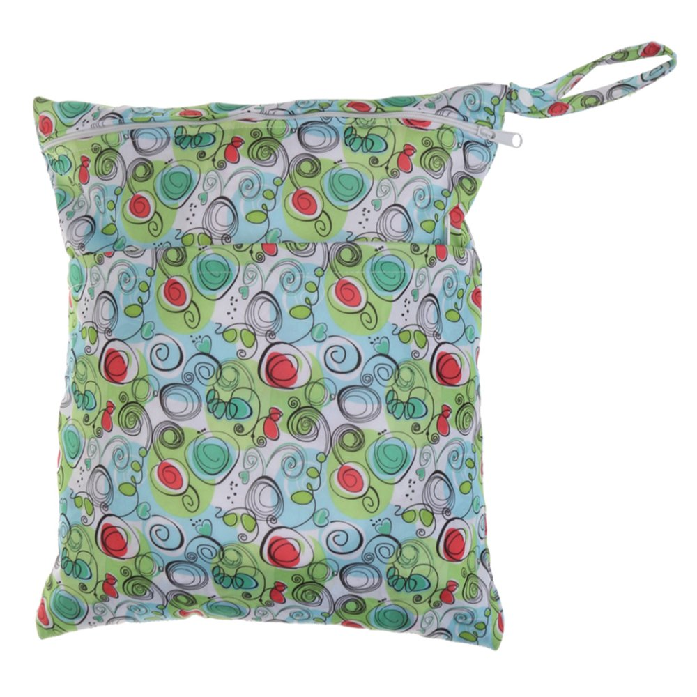 BolehDeals Waterproof Resuable Wet Dry Baby Diaper Bag Organizer Pouch Dual Zipper#9 - intl
