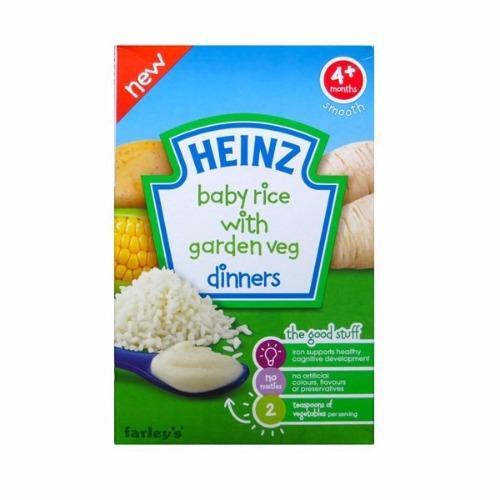 Bột ăn dặm Heinz 4+ vị gạo và rau củ xay nhuyễn 125g