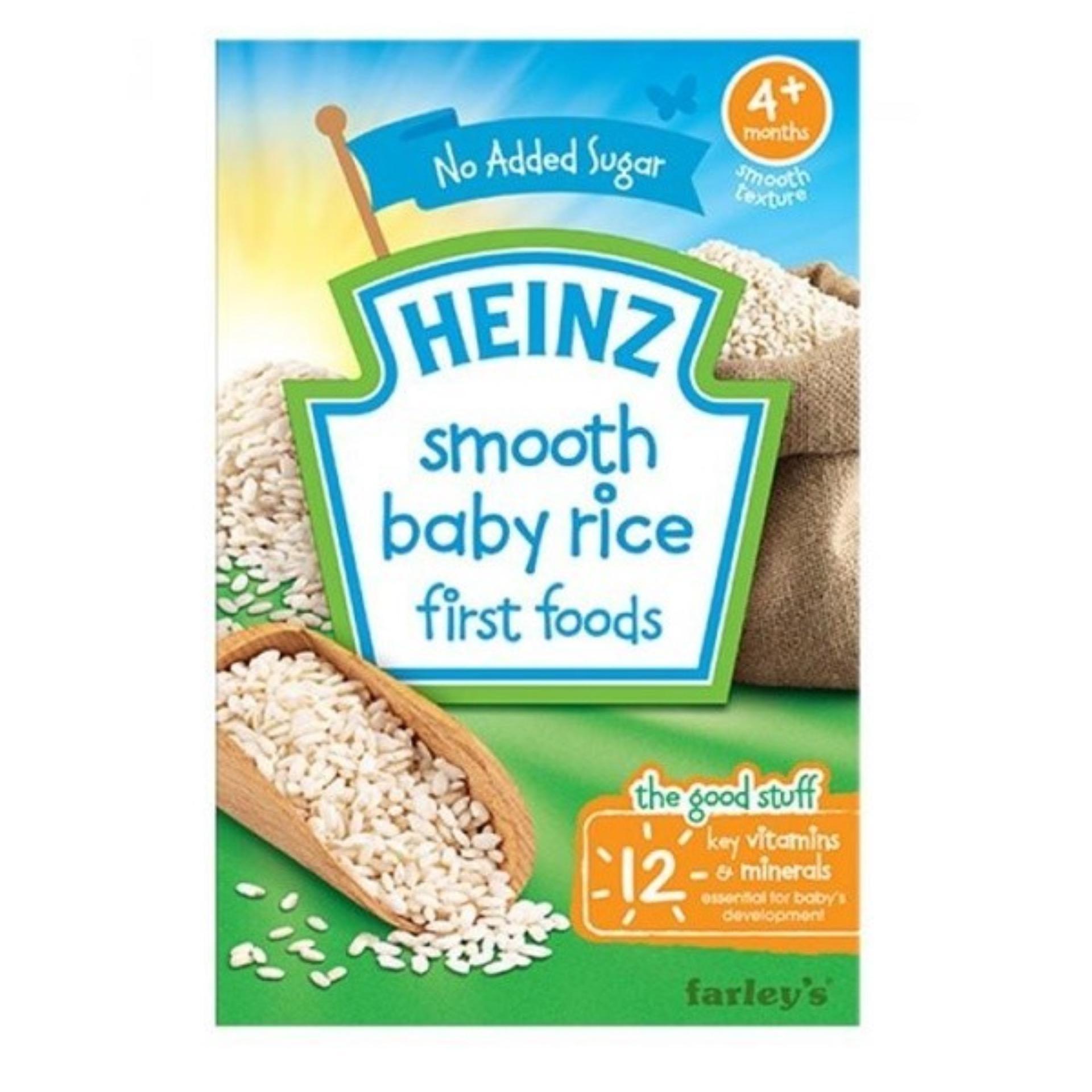 Bột ăn dặm Heinz first food gạo xay nhuyễn cho bé 4m+ 100g(Natural)