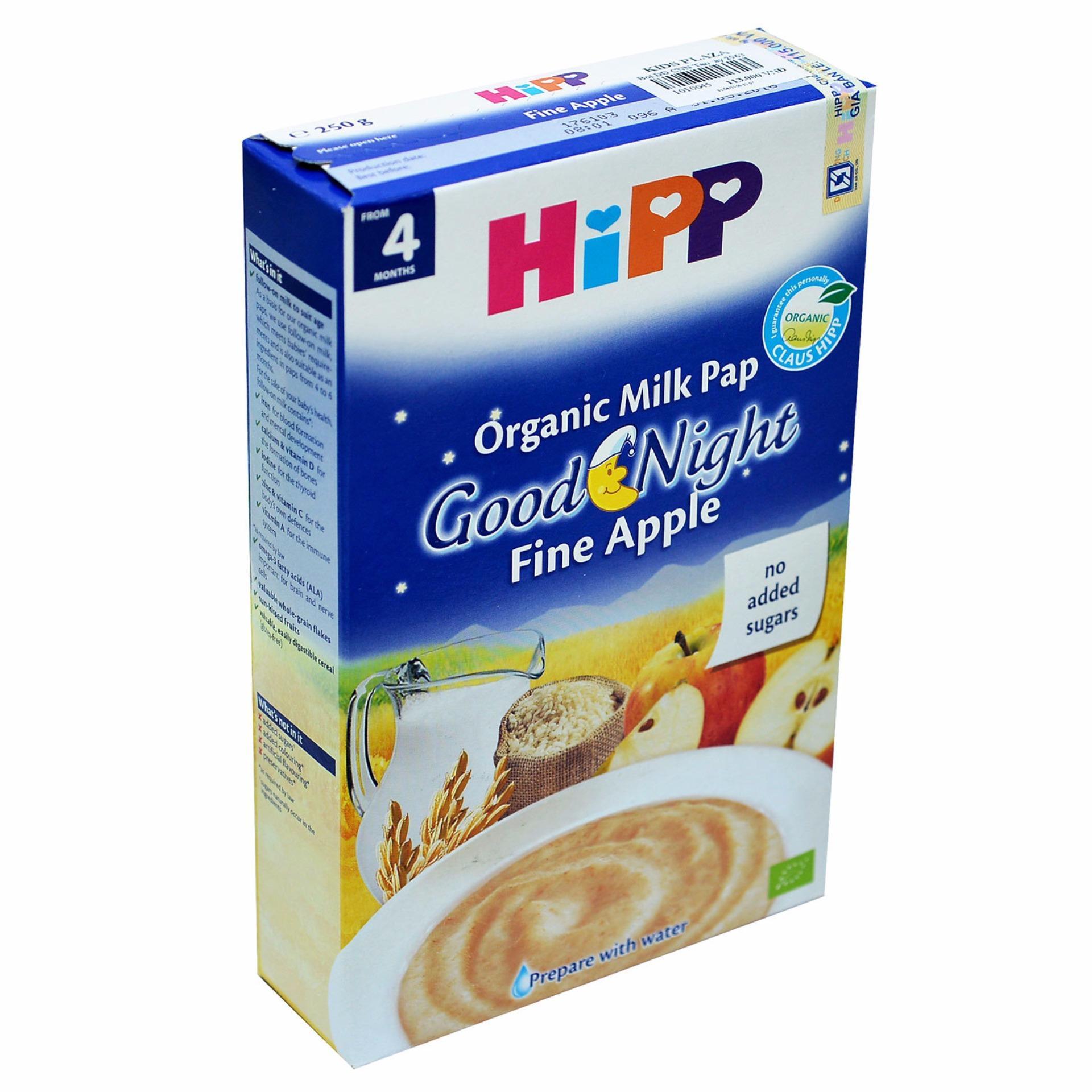 Bột Hipp ăn dặm táo tây & sữa 250g