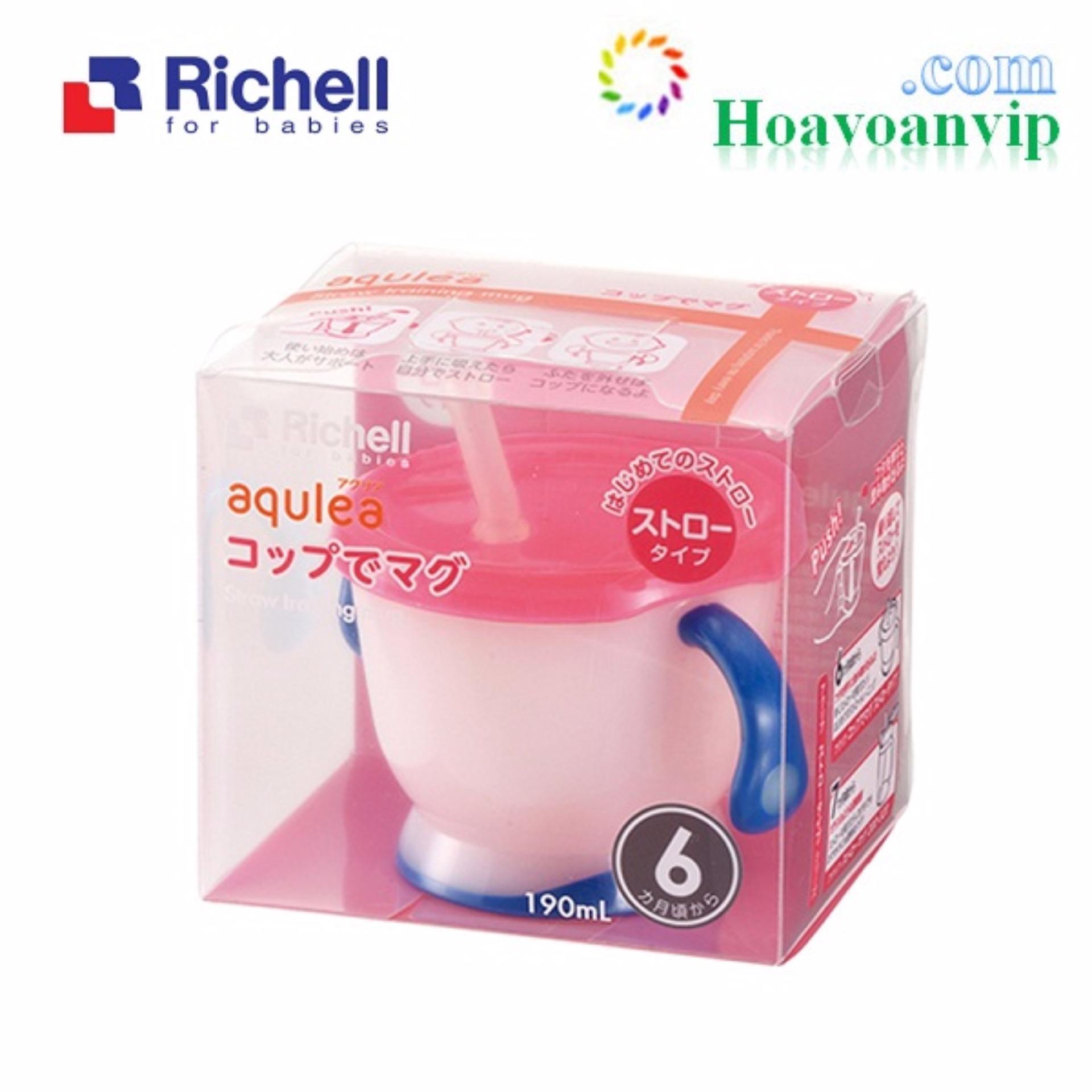 Cốc Tập Uống 3 Giai Đoạn Richell (Tay Xanh) VRC41011