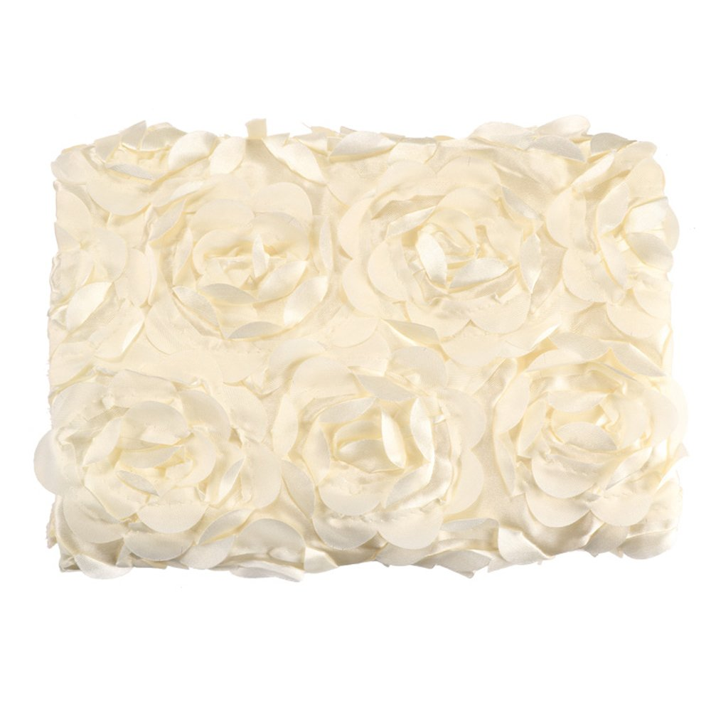 Cyber Fashion Newborn Baby 3D Photography Photo Props Rose Flower Backdrop Blanket Rug(Light White)