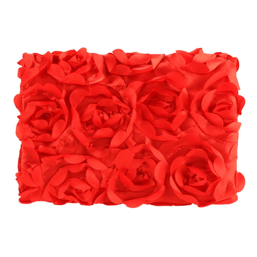 Cyber Fashion Newborn Baby 3D Photography Photo Props Rose Flower Backdrop Blanket Rug(Red)